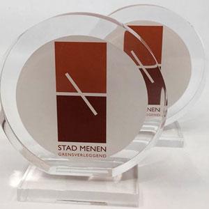 Stad Menen – award met logo Stad Menen