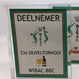 Wibac – trofeeën voor Duvel-tornooi